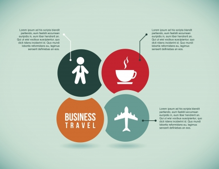 business travel icons over blue background illustration  Vector