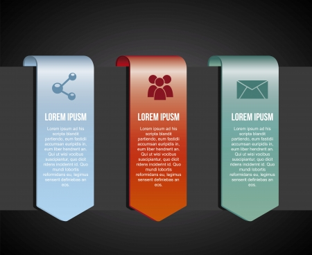 infographics icons over black background illustration Vector
