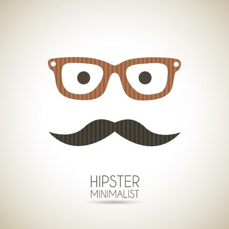 hipster minimalist over vintage background illustration Vector