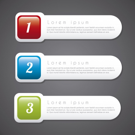 numbers options over vintage background illustration  Vector