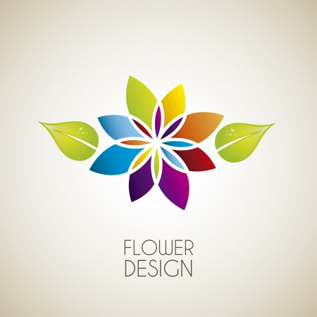 flower: flower design over vintage background illustration