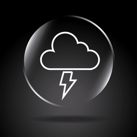 drench: icon storm over black background illustration