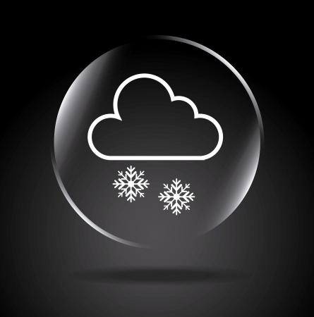 drench: icono nevando sobre fondo negro ilustración