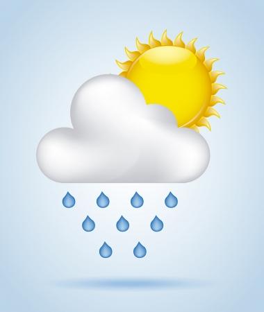 drench: cielo lluvia sobre fondo azul Ilustraci�n