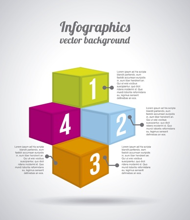 orenge: numerical boxes over gray background illustration