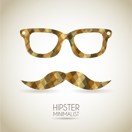 hipster icon over vintage background illustration Vector