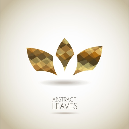 abstract leaves over vintage background illustration Vector