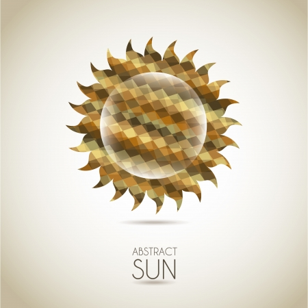 sol: abstract sun over vintage background illustration