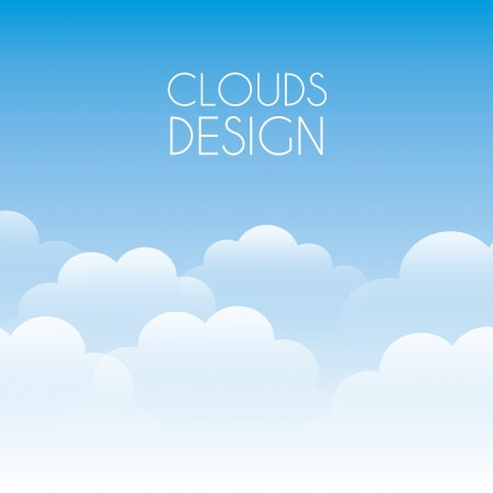cartoon clouds: nubes de dise�o sobre fondo de cielo ilustraci�n