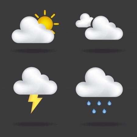 iconos invierno más de fondo negro ilustración Ilustración de vector