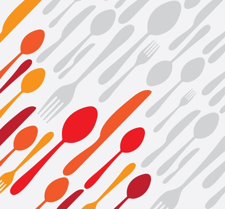 menu tool: cutlery icon over white background illustration