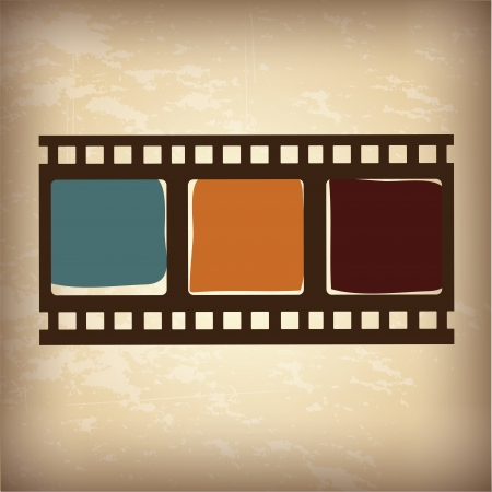 video tape over vintage  background illustration  Vector