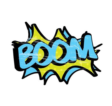 boom icon over white background illustration Stock Vector - 19772468