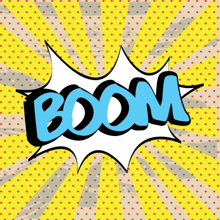boom icon over yellow background illustration  Stock Vector - 19772483