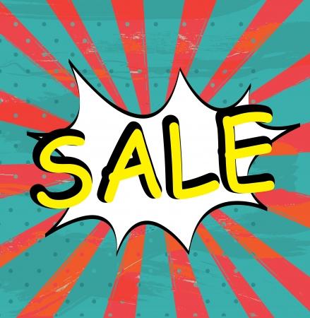 Sale expression over grunge background illustration  Vector