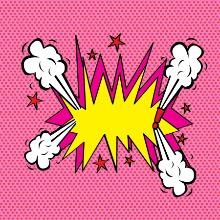 Explosion comic over pink background illustration  Stock Vector - 19772456