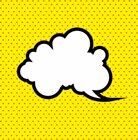 bam: expression icon over yellow background illustration