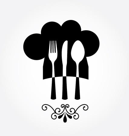 cibo cornice su sfondo grigio illustrazione