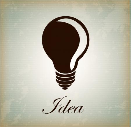 notion bulb over vintage background illustration