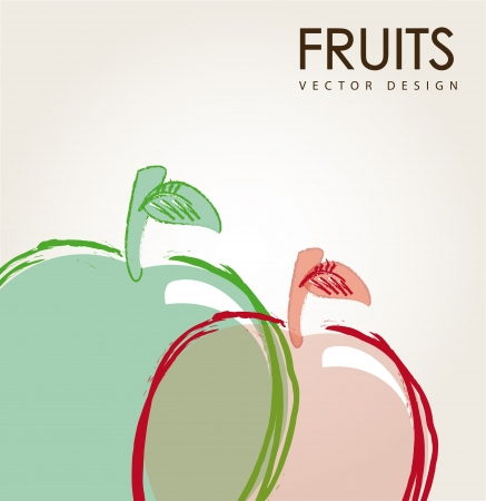 fruit design over gray background  illustration  Vector