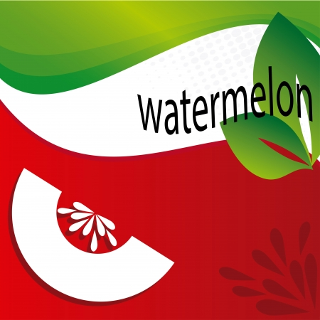 watermelon design over flag background illustration Vector