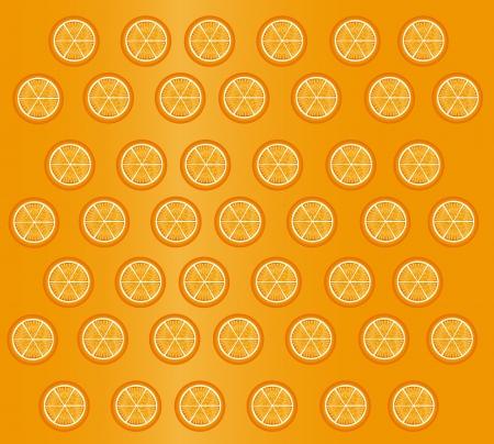 slices  print over orange background illustration Vector