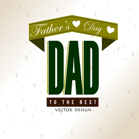 fathers day card over vintage background illustration Vector