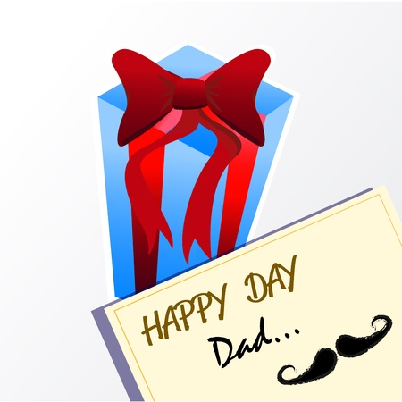 happy day dad over gray background illustration Vector
