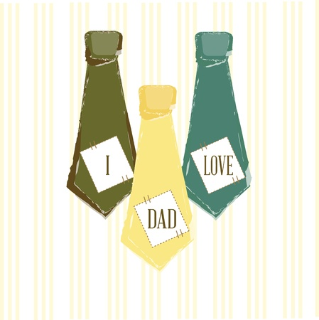 ties fathers day  over white background illustration Stock Vector - 19772636