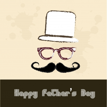 happy fathers day over vintage  background illustration