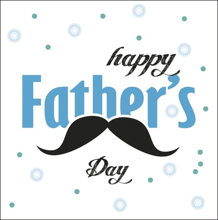 fathers day background: happy fathers day over crashed background illustration