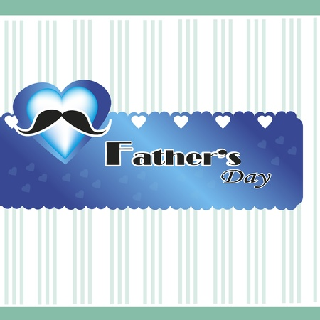 hearth and fathers day over grunge background illustration  Vector