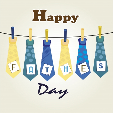 ties  fathers day over white background illustration Vector