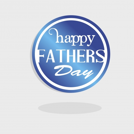 happy fathers day logo over white background illustration Stock Vector - 19772538