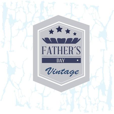 fathers day over  vintage background illustration Illustration