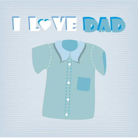 i love dad shirt over blue background illustration Stock Vector - 19772543