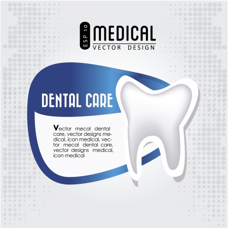 dental care icon  over gray background illustration  Vector
