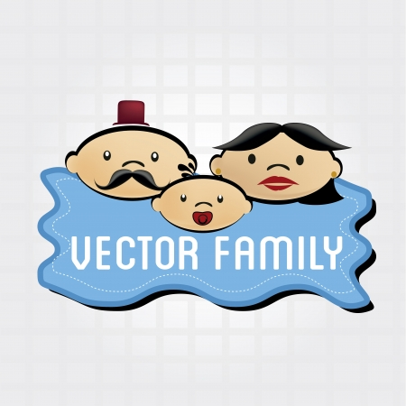 family icon over grid background illustration  Vector
