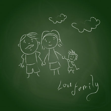 family board over green background illustration   Vector