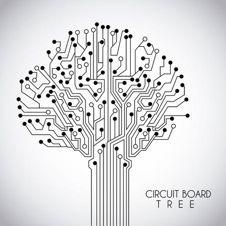 conception de circuits sur fond rose illustration