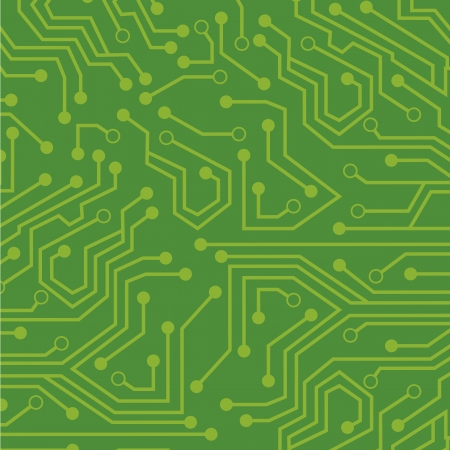 natural  circuit over  green background illustration   Vector