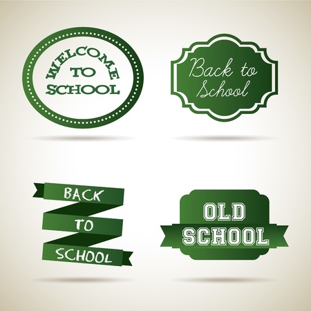 school icons over vintage background illustration Vector