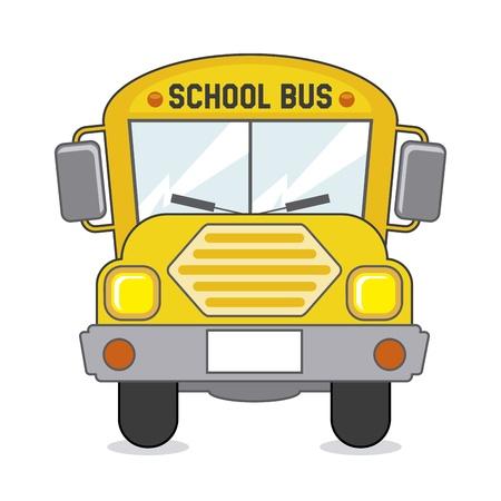 transporte escolar: icono de autob�s escolar m�s de color beige ilustraci�n de fondo