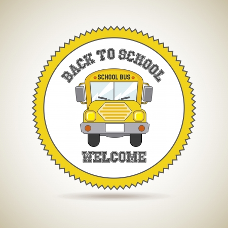 back to school icon over golden background illustration  Illustration