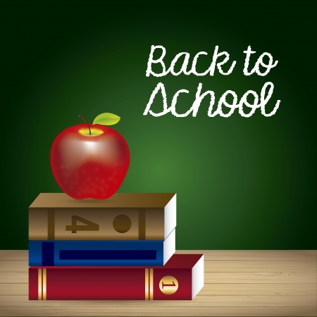 back to school over board background illustration  Vector