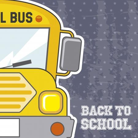 school form: back to school over grunge background illustration  Illustration