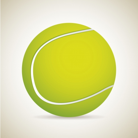 tennis ball over vintage background illustration  Stock Vector - 19772788