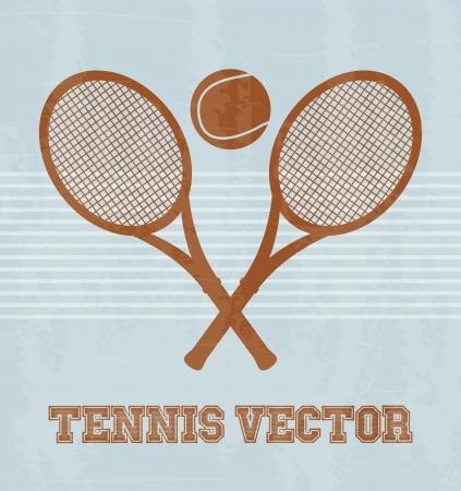 tennis design over vintage background illustration Stock Vector - 19772985