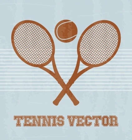 bounces: tennis design over vintage background illustration