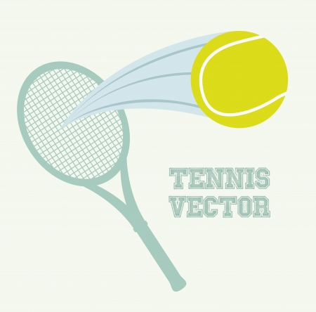 tennis design over vintage background illustration   Stock Vector - 19772956